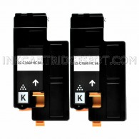 2 Pack - Compatible Dell 332-0399 High Yield Black Toner Cartridge for Color Laser 1660w Printers