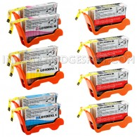 Lexmark Compatible 100XL Set of 10 High Yield Ink Cartridges: 4 Black & 2 each of Cyan Magenta Yellow