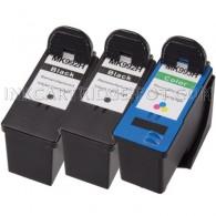 3-PK DELL MK992 & MK993 Compatible  (Series 9) - 2 Black & 1 Color High Capacity Ink Cartridges