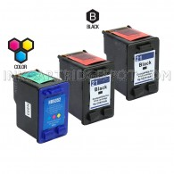 Compatible HP C9531AN HP 21 and C9352AN HP 22 Set of 3 Ink Cartridges: Includes 2 Black and 1 Color Cartridge