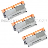 Compatible Brother Set of 3 TN450 High Yield Toner Cartridges - 7800 Page Yield