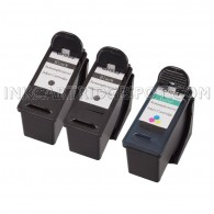3-Pack Dell CH883 + CH884 (Series 7) (2 Black + 1 Color) Compatible Inkjet Cartridges