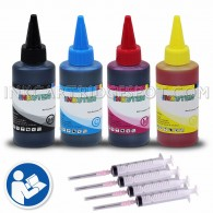 4x 100ml Premium Refill Kit with syringes for Lexmark 36XL and 37XL Black and Color Ink Cartridges