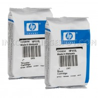 Genuine HP 61XL CH563WN / CH564WN High-Yield Ink Cartridge Set, 1 Black, 1 Color - Foil Wrapped