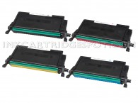 4 Dell Compatible 2145cn toners 1(Bk,C,M,Y)  - 5500 Page Yield