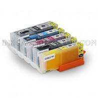 INKUTEN TM Edible Ink 5 Pack Canon PGI 250 PGI-250XL CLI 251 CLI-251XL HIGH YIELD MG5420, MG5520, MG6420, MX922K Cake Printing With Resettable Chips