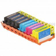 Replacement HP 564XL Set of 10 Inkjet Cartridges: 4 Black CN684WN, 2 Cyan CB323WN, 2 Magenta CB324WN, 2 Yellow CB325WN