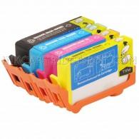 Replacement HP 564XL Set of 4 Inkjet Cartridges: 1 Black CN684WN, CB323WN, Magenta CB324WN, Yellow CB325WN