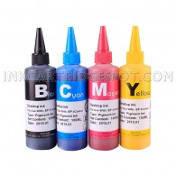4x100ml Premium Pigmented ink for EPSON 124 T124 using Durabrite ink CIS/CISS and refillable cartridges