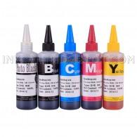 Compatible CISS Refill Ink Bottles (500ml, 100ml Per Color & Extra 100ml Black) for Canon PGI-225 CLI-226