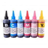 HP 02 02XL Ink Refill Kit 4 Bottles High Quality Refill Ink (100ml Black, 100ml per color, total 600ml)