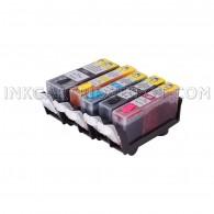 (Pre-Filled) Refillable Cartridges for Canon PGI-225 CLI-226 PGI225XL CLI226XL Auto Reset Chips (ARC)