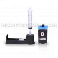 Ink Refill Kit for HP 564, HP 564XL Black Ink Cartridges for use in HP DeskJet 3520 3522 Officejet 4620 Photosmart 5520 6510 6520 7520 7525 D5460 D7560 Printers