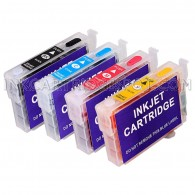 4 Refillable Cartridges for EPSON 125 T125 T1251 T1252 T1253 T1254 with Auto Reset Chips (ARC)