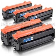 Compatible Samsung 505L Set of 5 Laser Toner Cartridges Includes: 2 CLT-K505L Black, 1 CLT-C505L Cyan, 1 CLT-M505L Magenta and 1 CLT-Y505L Yellow