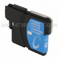 Brother Compatible LC61C Cyan Ink cartridge - 450 Page Yield