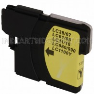 Brother Compatible LC61Y Yellow Ink cartridge - 450 Page Yield