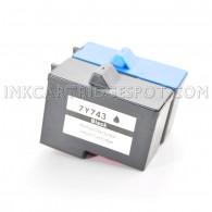 2-PK DELL 7Y743 & 7Y745 Compatible (Series 2) - 1 Black & 1 Color High Capacity Ink Cartridges