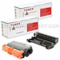 Compatible Brother TN-750 (TN750) DR-720 (DR720) Combo Pack of 2, 1 Black Toner Cartridges and 1 Pack Drum