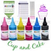 Edible Ink Refill Kit for EPSON T079 T048 T099 T098 T078 T277 EPSON Stylus Photo 1400, Artisan 1430, - 600 ml Ink Bottles (6-Pack) BlacK, Cyan, Magenta, Yellow, Light Cyan, Light Magenta