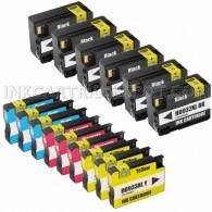 15 Pack Ink Cartridges Replacement for HP 932XL & 933XL - 6 Black CN053AN ink cartridge, 3 Cyan CN054AN, 3 Magenta CN055AN, 3 Yellow CN056ANM
