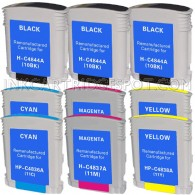 9 PACK:  HP Compatible 3-C4844A ,2-C4836A (HP 11 Cyan) ,2-C4838A (HP 11 yellow) ,2-C4837AN (HP 11 Magenta)