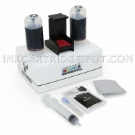 Black Ink Refill Kit For Hewlett Packard HP 62 & 62XL