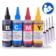 4x 100ml Premium Refill Kit with syringes for HP 94 and 97 Black and Color Ink Cartridges