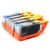 Canon PGI225 & CLI226 Compatible Set of 5 Ink Cartridges: 1 Pigment Black PGI-225, 1 each of CL-I226 B/C/M/Y
