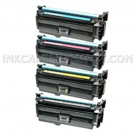 Replacements for HP 654A Set of 4 Laser Toner Cartridges 1 CF320A Black, 1 CF331A Cyan, 1 CF332A Yellow, 1 CF333A