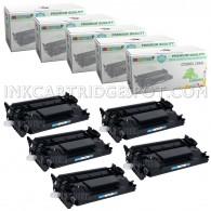5 Pack HP CF226A 26A Compatible Toner Cartridges
