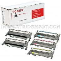 5 Pack Compatible Toner Cartridge Replacement For Samsung CLT-K406S CLT-C406S CLT-M406S CLT-Y406S (2 Black, 1 Cyan, 1 Magenta, 1 Yellow)