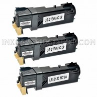 3 PK Compatible Dell T106C High Yield Black Toner Cartridge for  Dell 2130cn & 2135cn