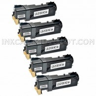 5 PK Compatible Dell T106C High Yield Black Toner Cartridge for  Dell 2130cn & 2135cn