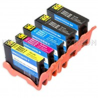 Compatible Set of 5 (Series 33/34) Extra High Yield Ink Cartridges for the Dell V525w & V725w Printers: 2 Black, 1 Cyan, 1 Magenta & 1 Yellow