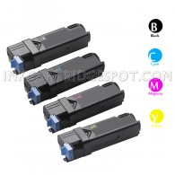 Dell Compatible 2150/2155 Set of 4 High Yield Toner Cartridges - Black/Cyan/Magenta/Yellow