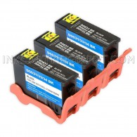 3 Pack Compatible (Series 31) Black Ink Cartridge V28CF for Dell V525w & V725w Printers