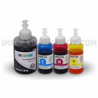 4 Pack High Quality Compatible Epson 140ml BK 70ml CMY Refill Ink Set CIS Cartridges Ecotank T774120 T664220 T664320 T664420
