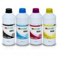 Refill Ink Bottles for 664 T664 cartridge Expression EcoTank ET-2500 ET-2550 WorkForce EcoTank ET-4500 ET-4550 (250ml per color) Made in the USA
