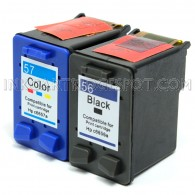 Compatible HP C6656AN HP 56 and C6657AN HP 57 Set of 2 Ink Cartridges