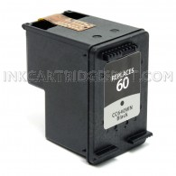 HP CC640WN (HP 60) Black Compatible Ink Cartridge - 200 Page Yield