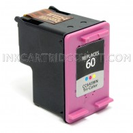 HP CC643WN (HP 60) Tri Color Compatible Ink Cartridge - 165 Page Yield