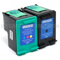 HP C9362WN (HP 92) and C9361WN (HP 93) Set of 2 Compatible Ink Cartridges: Includes 1 Black and 1 Color Cartridge