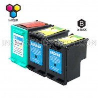 Compatible HP C8765WN (HP 94) and C9363WN (HP 97) Set of 3 Ink Cartridges: Includes 2 Black and 1 Color Cartridge