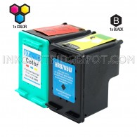 Compatible HP C8765WN (HP 94) and C9363WN (HP 97) Set of 2 Ink Cartridges: Includes 1 Black and 1 Color Cartridge