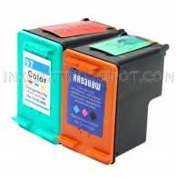 Compatible HP C9363WN (HP 97) and C9369WN (HP 99) Set of 2 Ink Cartridges: Includes 1 Black and 1 Color Cartridge