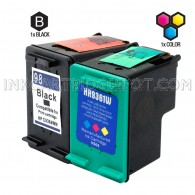 Compatible HP C9364WN (HP 98) and C9361WN (HP 93) Set of 2 Ink Cartridges: Includes 1 Black and 1 Color Cartridge