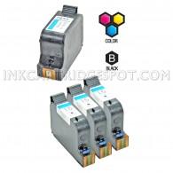 Compatible HP 15 Black (C6615DN / C6615D) & HP 78 Tri Color (C6578DN / C6578D) Combo Pack of 4 Ink Cartridges