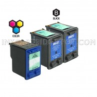 Compatible HP C8727AN HP 27 and C8728AN HP 28 Set of 3 Ink Cartridges Includes 2 Black and 1 Color Cartridge