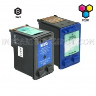 Compatible HP C8727AN HP 27 and C8728AN HP 28 Set of 2 Ink Cartridges